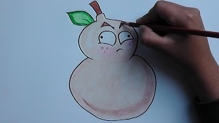 Como dibujar a Calabaza de Fuego (Plantas vs Zomies) - How to draw a pumpkin Fire