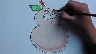 Como dibujar a Calabaza de Fuego (Plantas vs Zomies) - How to draw a pumpkin Fire
