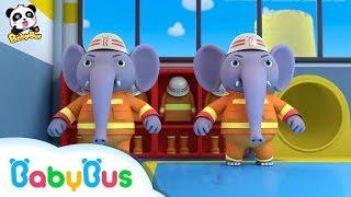 Những chú voi cứu hỏa dũng cảm | Đội cứu hỏa BabyBus | Nhạc thiếu nhi hay cho bé | BabyBus