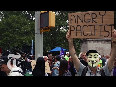 Rallying at the People's Climate March in NYC   The New York Times