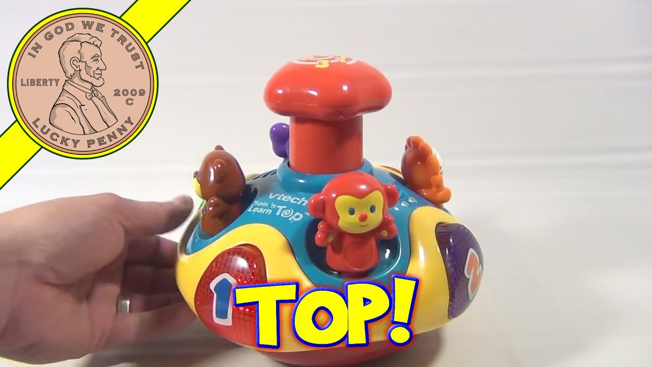 VTECH SPIN AND Learn Top, Toy Plays Music Sings Talks, Sea ...