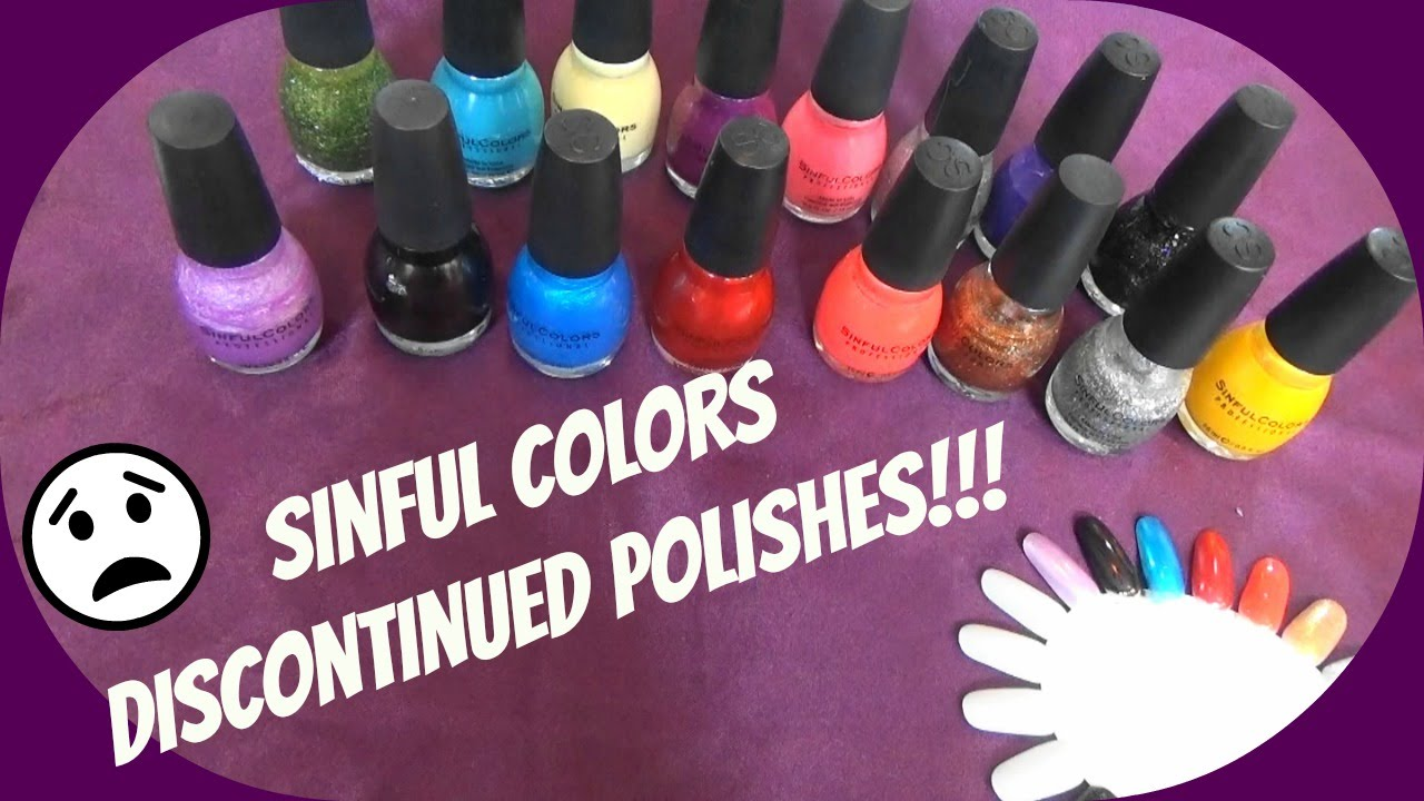 Sinful Colors Discontinued Polishes~Jan \'16 - YouTube