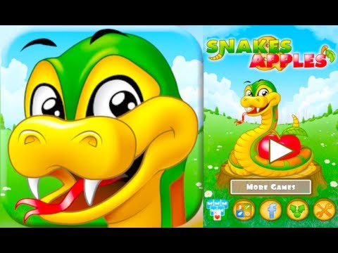 SNAKES & APPLES - Gameplay & Review (iPhone, iPad, Android)