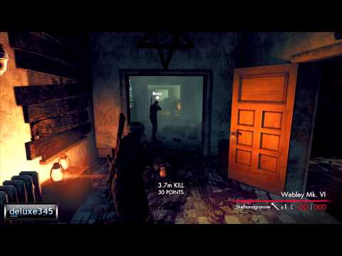 Sniper Elite: Nazi Zombie Army Coop Gameplay (PC HD)
