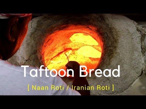Taftoon Bread (Naan Roti) / Iranian Roti in Matar Qadeem | Qatar Street Food | How To Make