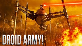 FIRST ORDER vs DROID ARMY (Ground Battle) - Star Wars Empire at War