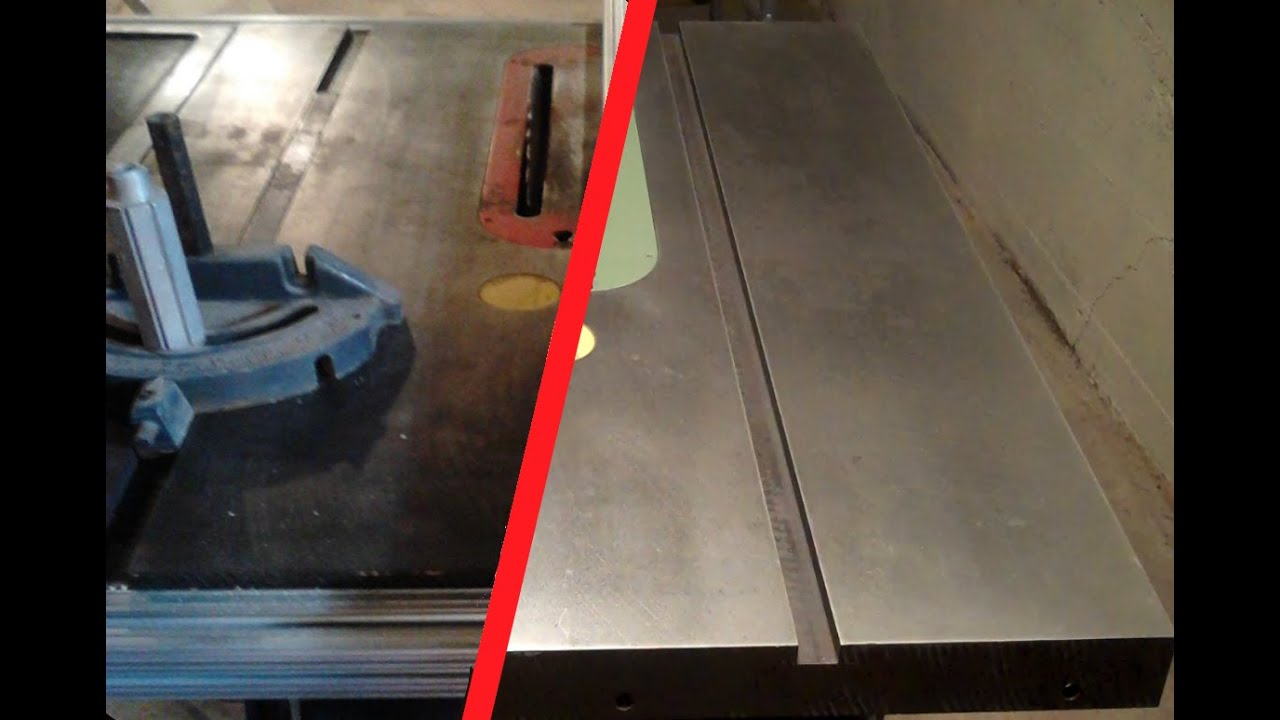 Refinishing A Cast Iron Table Saw Top   YouTube