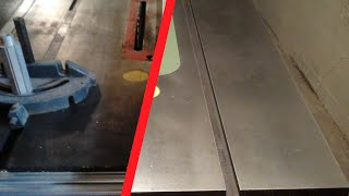 Refinishing a Cast Iron Table Saw Top