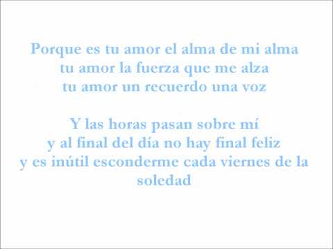 Luis Fonsi Tu amor ~ Con letra
