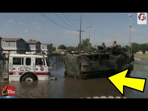 AMAZING: Marines Aid First Responders in Rescue Operations in Texas