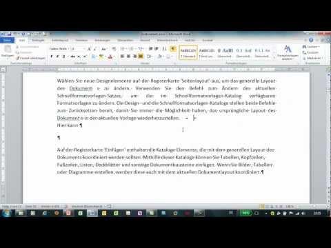 Word - Manueller Zeilenumbruch - Zeilenwechsel bei Blocksatz