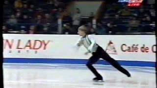 1999 Euros Evgeni Plushenko - warmup + SP Hava Nagila + marks