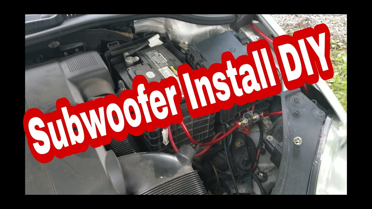 Subwoofer Amp Install On Mk5 Rabbit Gti Golf And Jetta Youtube