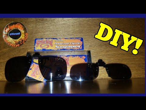 Customize Clip-on Polarized Sunglasses Fitted To Your Glasses DIY! A Must Have For Sight Fishing!!