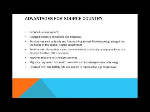 IGCSE Geography: Migration