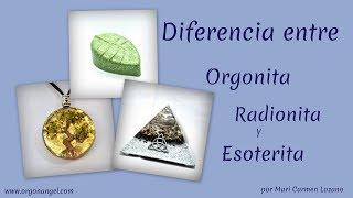Orgonita Radionita y Esoterita al detalle por Orgonangel