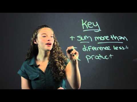How to Write Verbal Sentences as Equations : Math Made Easy