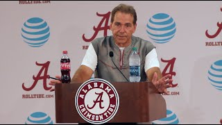 First Nick Saban Press Conference of Fall Practice