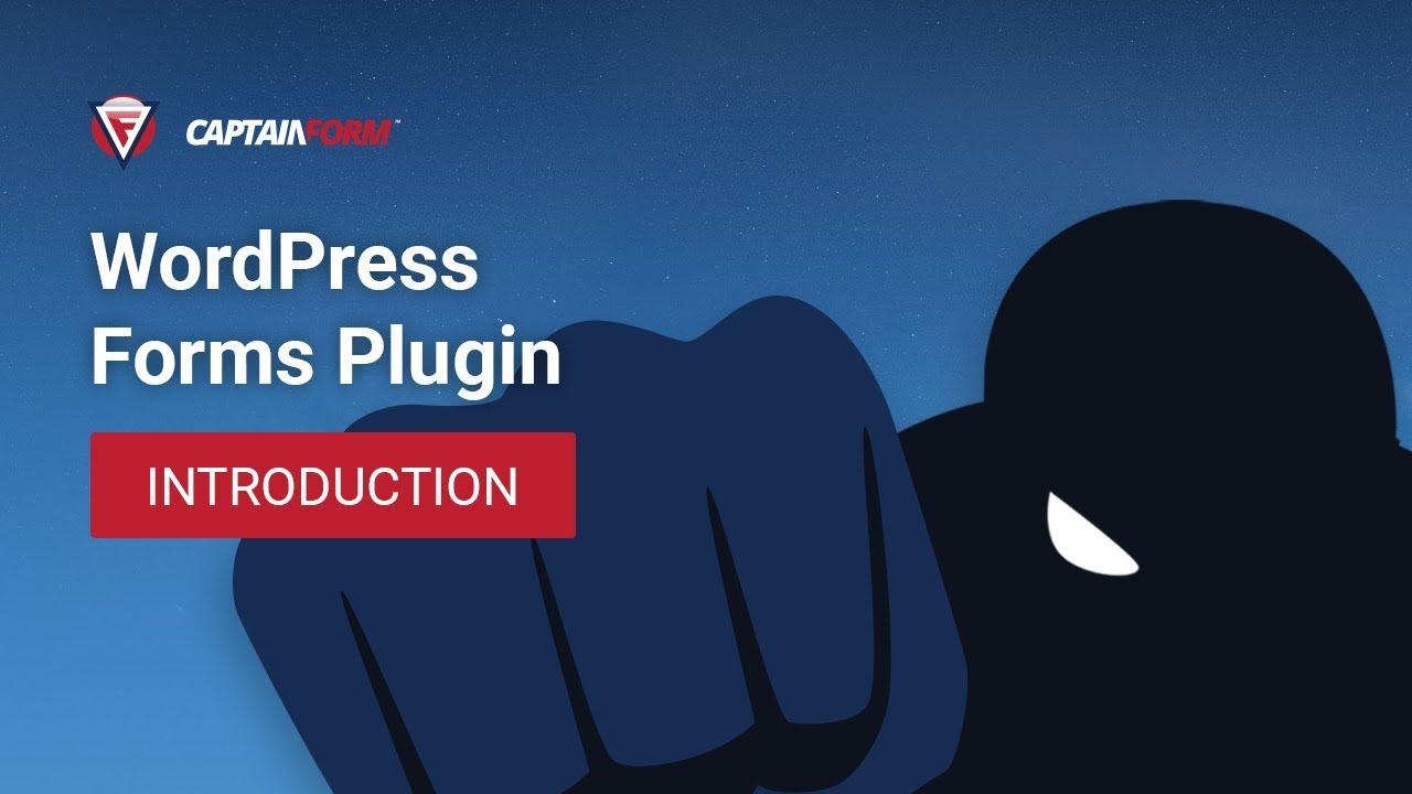 Introducing CaptainForm - A WordPress Forms Plugin