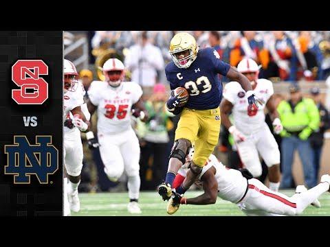 North Carolina State vs. Notre Dame Football Highlights (2017)