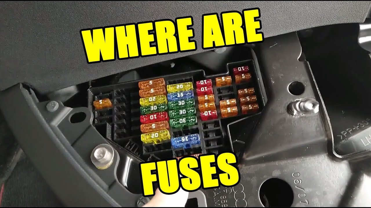 How to Diagnose Fuses in Audi TT Mk2 Check Fuse Locatons - YouTube | Audi Tt Fuse Box Mk2 |  | YouTube