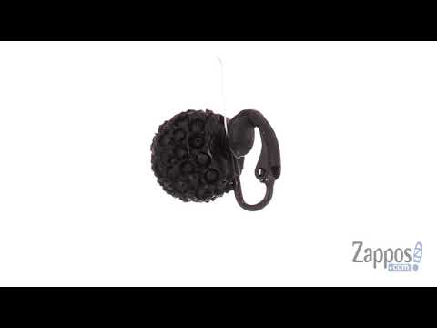 Kenneth Jay Lane Black/Jet Pave Ball Clip Earrings SKU: 9027394
