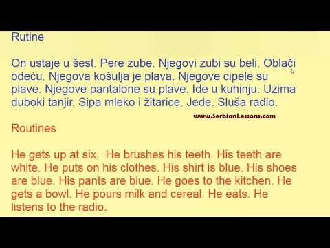 Learning Serbian with Short and Easy Texts - Routines
