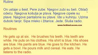 Serbian Short Texts with Translation - Routines