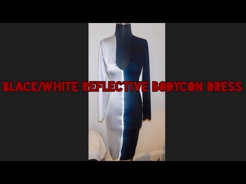 Sewing 101   Black/White 3M Reflective Dress   Ashya Shanell