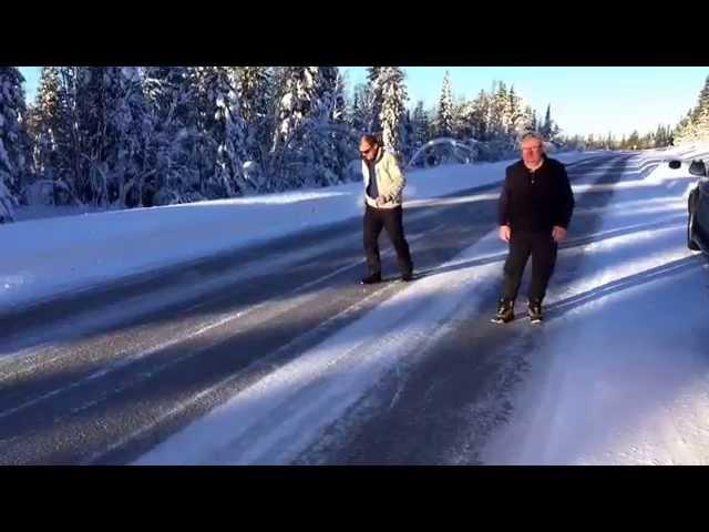 Nordkapp Vintertur 2015 - Video 18 - Glatte veje