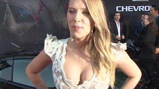 Scarlett Johansson Interview Funny Hot Scarlett Johansson Captain America Trailer 2014 CARJAM