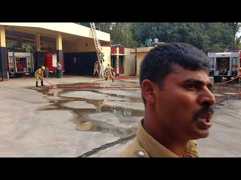 Pump drill with water tender | Karnataka Fire Department