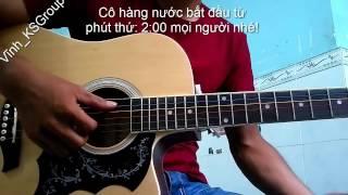 CÔ HÀNG NƯỚC guitar áp dụng điệu Disco và Ballard Xưa