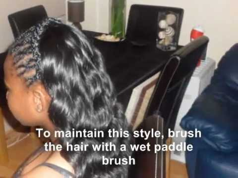 Partial Sew In Weave Tutorial With Wavy Braids Loose Deep Curls