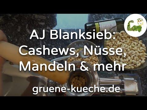 Angel Juicer Blanksieb - Cashewkerne, Erdnüsse, Mandeln und Gefrorenes verarbeiten (Teile 1-4)
