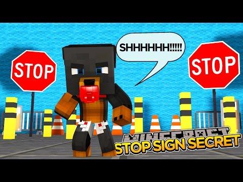 Minecraft - STOP SIGN SECRET - Little Baby Max -