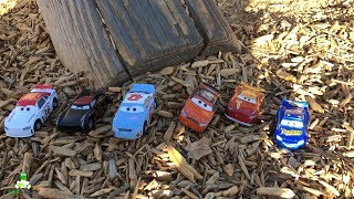 Disney Cars 3 Toys Adventure RACE TO THE WOODS | Thomasville Lightning McQueen Playground