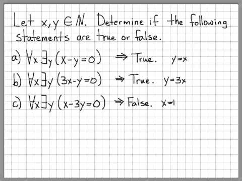 Proof and Problem Solving - Quantifiers Example 03