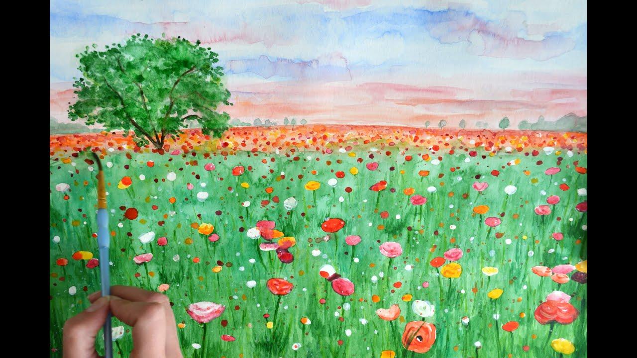 Flower Art Painting Wildflowers