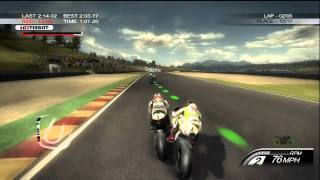 Moto GP 10/11 Demo Gameplay HD 720p Xbox 360