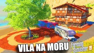 KAMPIRANJE NA MORU, GRADIMO VILU DO VODE!! - (FS19 zezanje)