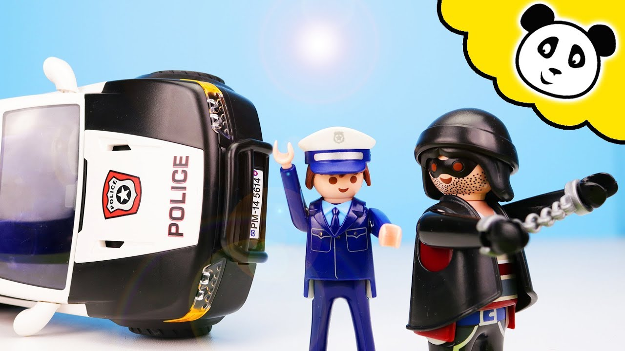 playmobil polizei unfall mit dem polizeiauto playmobil. Black Bedroom Furniture Sets. Home Design Ideas