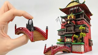 Spirited Away Bath House! DIY made for CHEAP //  Studio Ghibli Crafts