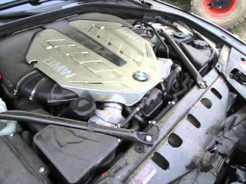 2009 BMW 750i F01 44L N63 Twin Turbo Engine Test 150704