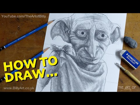How To Draw Dobby The House Elf From Harry Potter