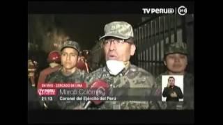 EJTO APOYA EN INCENDIO TV PERU