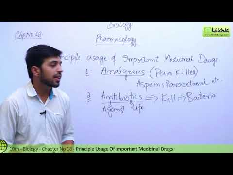 10th Class Biology, Principle Usage of Important Medicinal Drugs-Biology Ch 18 - Biology 10th Class