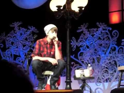 Justin Bieber At Massey Hall -Silent Night :)
