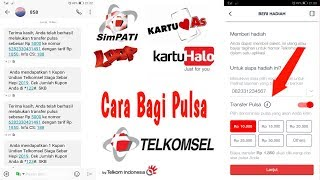 Cara Bagi Pulsa Telkomsel (as, Loop, Simpati, Halo)