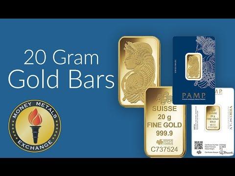 20 Gram Gold Bar | PAMP Suisse | Money Metals Exchange